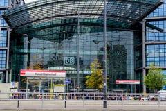 Södra ingång till Berlin Central Station Fotografering för Bildbyråer