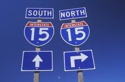 Södra Interstate 15 som är norr och Arkivbild