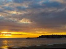 Södra Italien solnedgång royaltyfria bilder