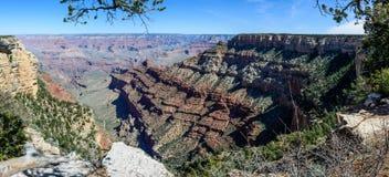 Södra kant av Grandet Canyon i Arizona Arkivfoto