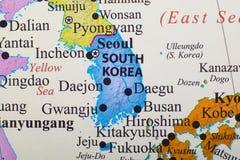 södra korea översikt arkivbilder