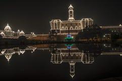 SÖDRA KVARTER, RASHTRAPATI BHAWAN, NEW DELHI royaltyfria bilder