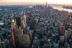 Södra Manhattan sikt Fotografering för Bildbyråer
