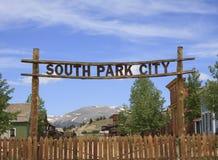 Södra Park City tecken Royaltyfri Foto