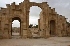 Södra port, Jerash Arkivfoto