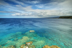 Södra punkt för Kalae i den stora ön, Hawaii Royaltyfri Fotografi