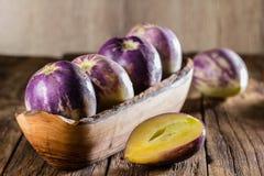 Södra - söt gurka för amerikansk frukt Pepino dulce eller pepinomelon royaltyfria bilder