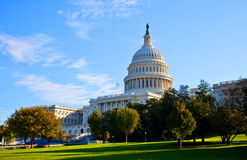 Södra sikt av U.S.-capitolen Royaltyfri Foto