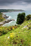 södra sikt wales för kustlinje Arkivfoton