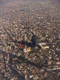 södra stadsmexico fjärdedel Arkivbild