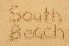 Södra strand Arkivbild