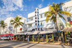 Södra strand Art Deco Ocean Drive royaltyfria foton