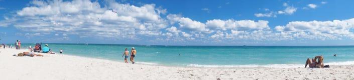 Södra strand av Miami semesterpanorama Arkivfoto