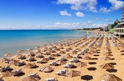 Södra strand av Nessebar i sommar royaltyfri bild