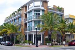 Södra strand för gatasikt, Miami Arkivbild