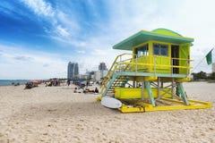 Södra strand i Miami, Florida, USA Arkivfoton