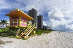 Södra strand i Miami, Florida, USA Royaltyfri Foto