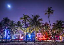 Södra strand Miami Arkivfoton