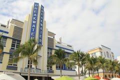 Södra strand Miami för art déco Arkivfoto