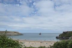 Södra strand Pembrokeshire södra Wales för bred tillflyktsort fotografering för bildbyråer