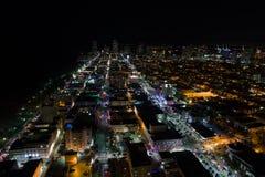 Södra strand SoBe Miami FL för flygbild Arkivbilder