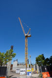 Södra strandkonstruktion Crane Portland Oregon Arkivbild