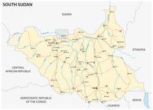 Södra Sudan färdplan vektor illustrationer