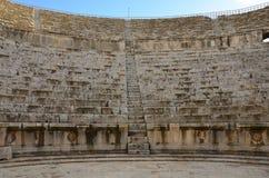 Södra teater, Jerash Arkivbild