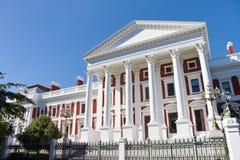 södra town för afrikansk byggnadsuddparlament Arkivfoton