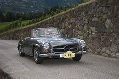 Södra tyrol klassiker cars_2014_ Mercedes Benz 190 SL Fotografering för Bildbyråer