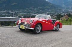 Södra tyrol klassiker cars_2014_Triumph TR 3A Royaltyfria Bilder