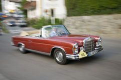 Södra tyrol klassisk cars_MERCEDES BENZ 250 SE Arkivbilder