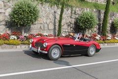 Södra Tyrol Rallye 2016_ Austin Healey 100-6_red Royaltyfri Fotografi