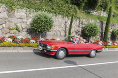 Södra Tyrol Rallye 2016_Mercedes 280 SL R 107 Royaltyfri Bild
