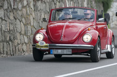 Södra Tyrol Rallye 2016_VW Kï ¿ ½ fer Cabrio LS 1300 Arkivfoton