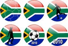 södra värld för africa koppfotboll Royaltyfria Bilder