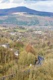 Södra Wales sikt in mot den Sugar Loaf kullen Monmouthshire Arkivbilder