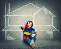 Söka efter huset stock illustrationer