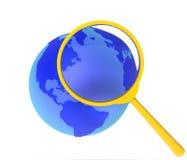 sökande av den breda världen för rengöringsduk Arkivbilder