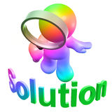 sökande av lösningen Arkivfoton