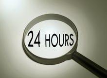Sökande av 24 timme Fotografering för Bildbyråer