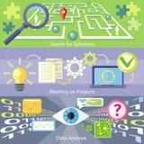Sökande för funktionsdugligt projekt för lösningsdataanalys royaltyfri illustrationer