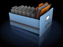 Sökande för mapp stock illustrationer