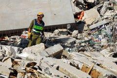 Sökande- och räddningsaktionstyrkor Arkivfoto
