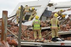 Sökande- & räddningsaktionkatastrofzon Arkivfoto