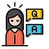 SökandekunskapsLineColor illustration vektor illustrationer