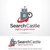 Sökandeslott Logo Template Design Vector Arkivbild