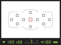 Sökare av den digitala kameran för reflex för enkel lins/DSLR Arkivfoton
