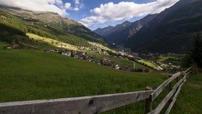 Sölden in the valley Ötztal in Austria. Sölden in the valley Ötztal Ötztal in Austria, Tirol in a timelapse movie stock footage