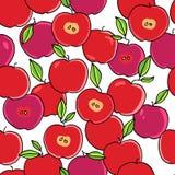 Sömlös äpplebakgrund - vektormodell Fotografering för Bildbyråer
